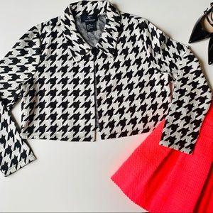 Nina Leonard Lennie Black White Short Blazer 🖤